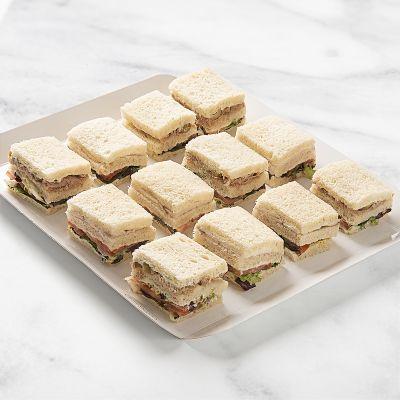 Bandeja de sandwich vegetal (12 uds)